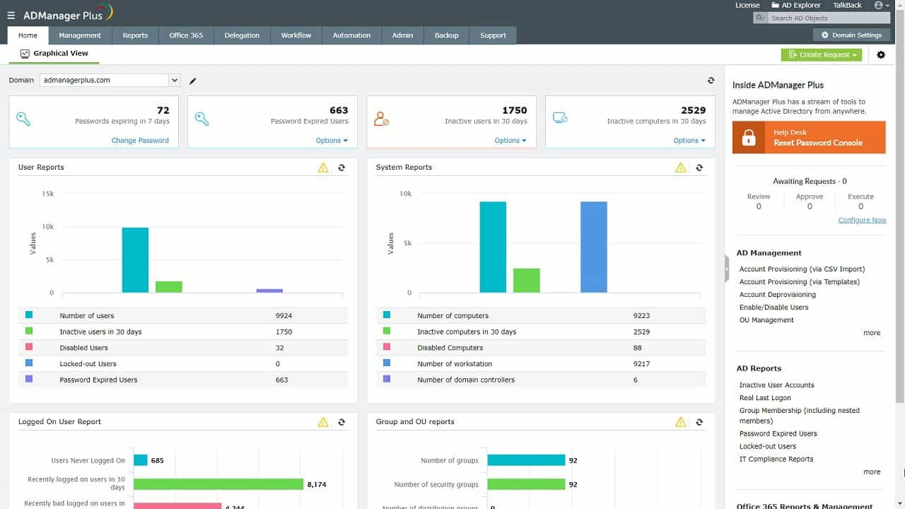 ADManager Plus from ManageEngine