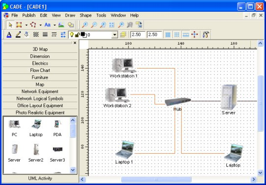 Top 10 network diagram topology mapping software pc network cade free cade network diagram software ccuart Image collections