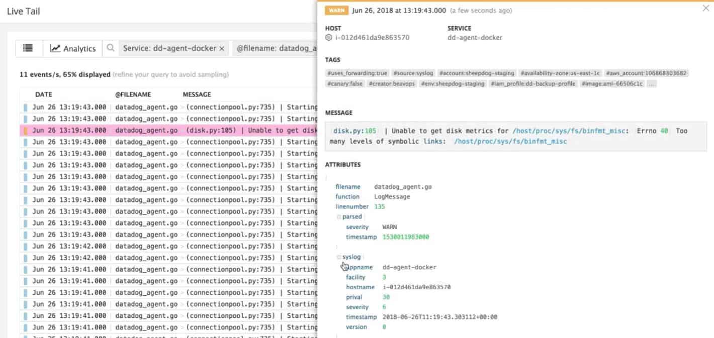 Datadog Log Monitoring