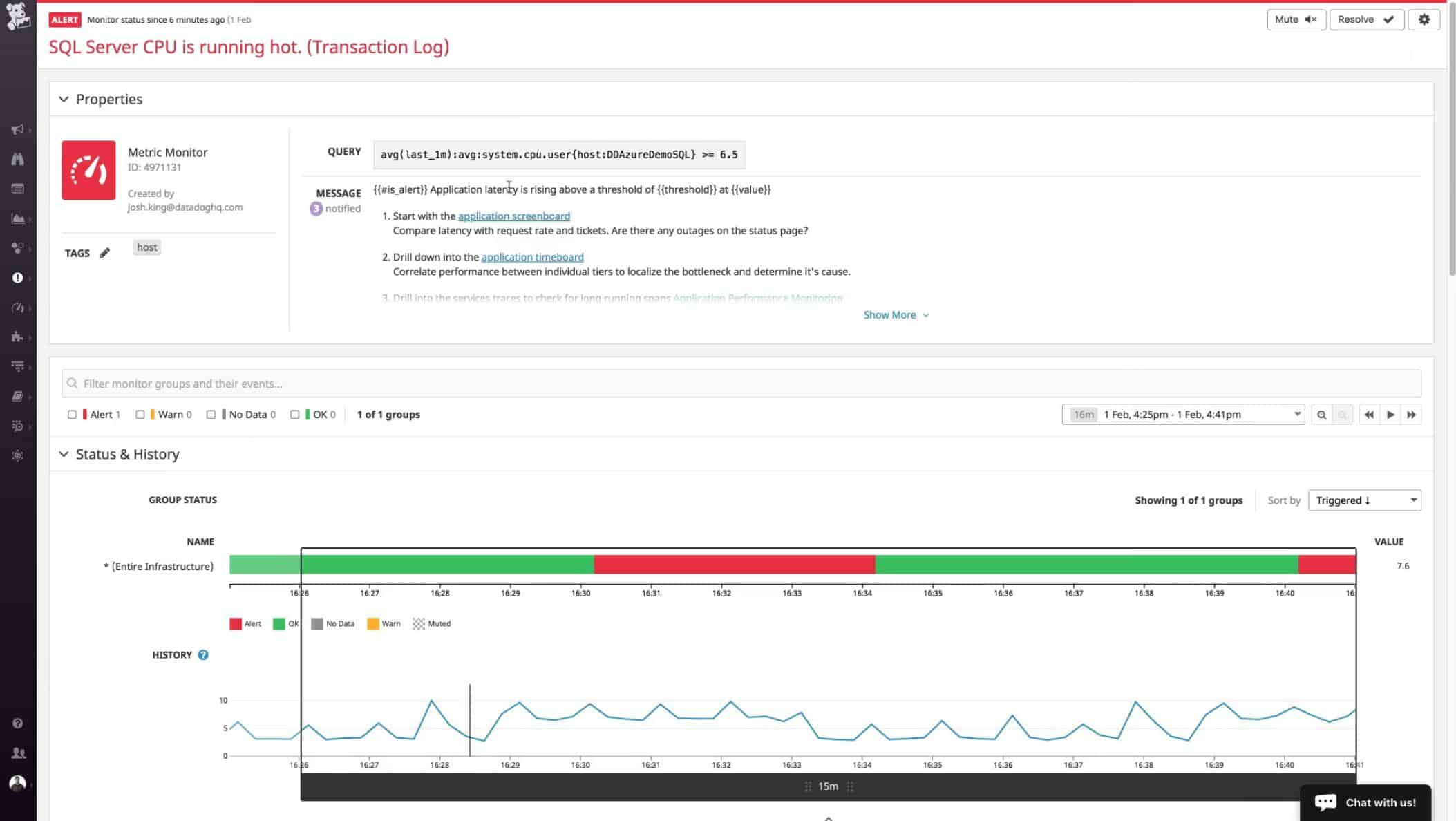 Datadog SQL Server Monitoring