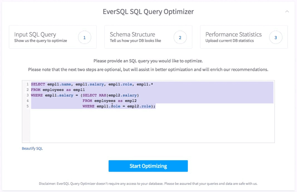 EverSQL online-optimizer
