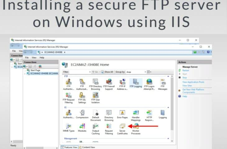 Installing a secure FTP server on Windows using IIS