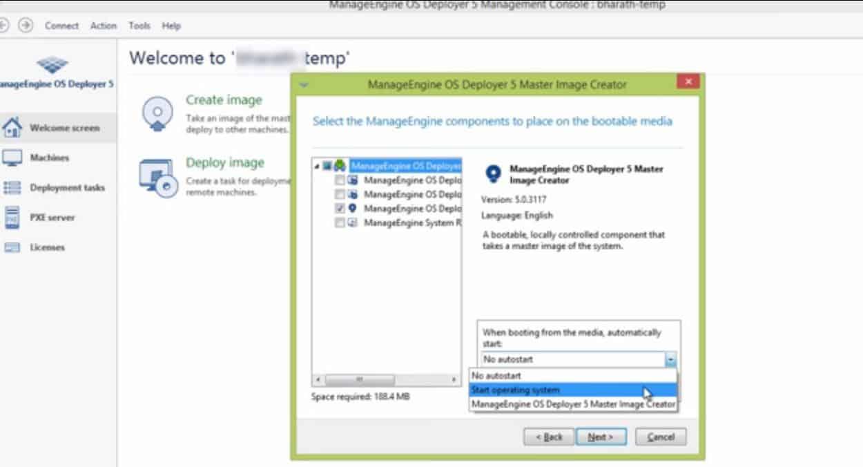ManageEngine OS Deployer