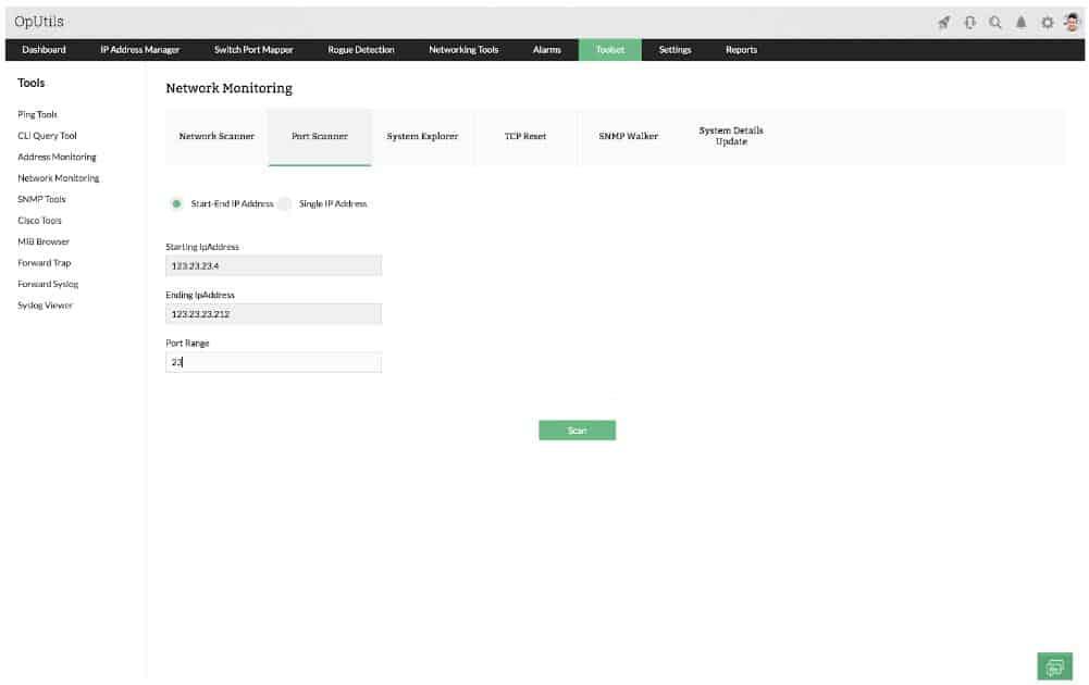ManageEngine OpUtils Network Monitoring Toolset