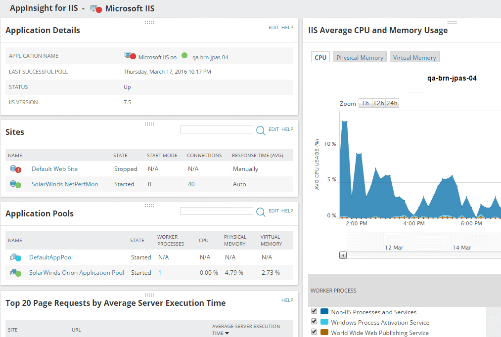 AppInsight IIS Server