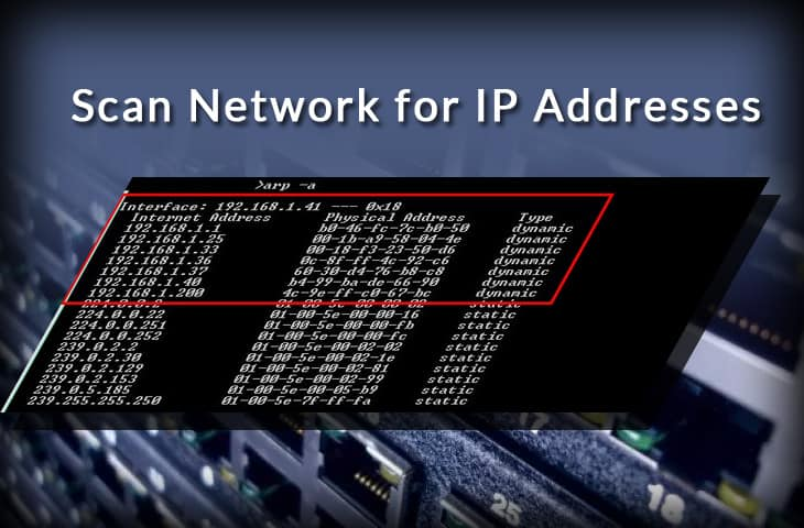 Find ip address from command line
