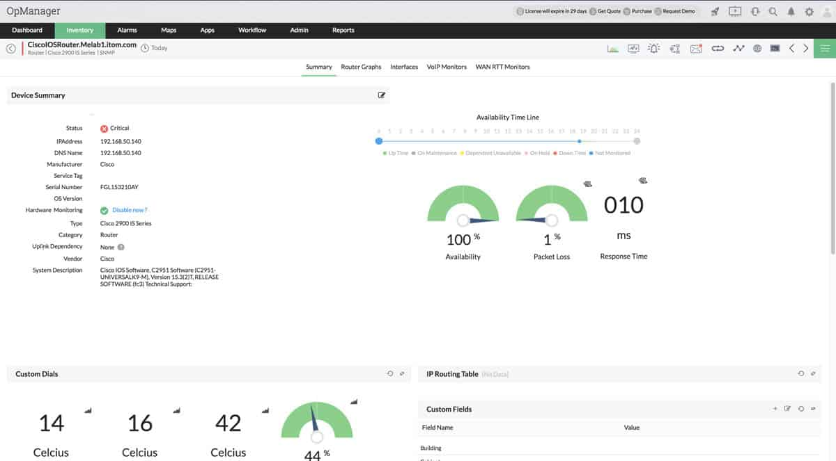 ManageEngine OpManager Review, Features, Price/Cost
