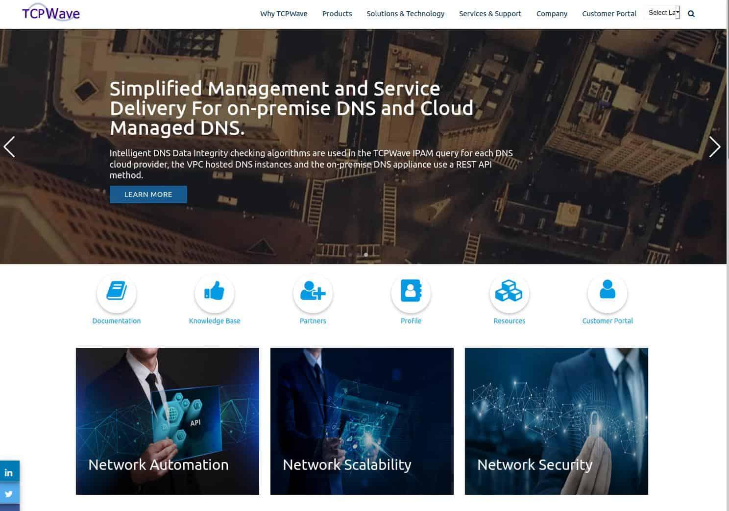 TCPWave Website Screenshot
