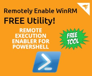 WinRM enable remotely on servers and pc