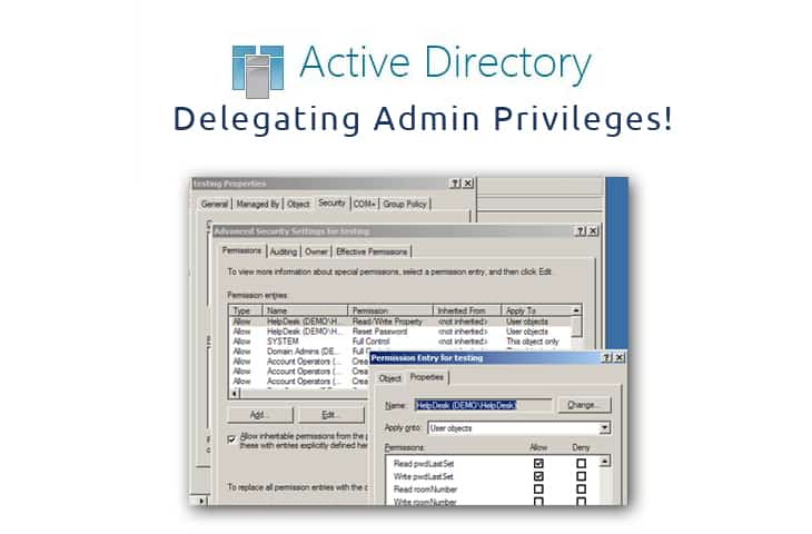 delegating admin privileges aduc