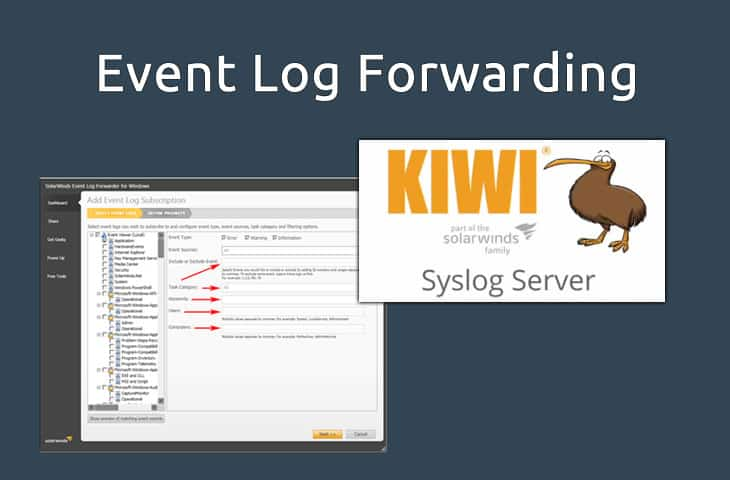 event log fowarding to syslog from windows server