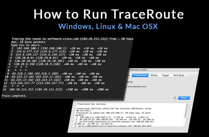 how to run traceroute