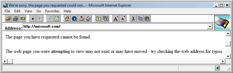 Internet Explorer 2.01 (2.01.046) in Windows Vista