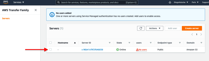 Configuration of the additional services, reviewing and creating the server