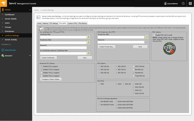 SolarWinds Serv-U Managed File Transfer (MFT)