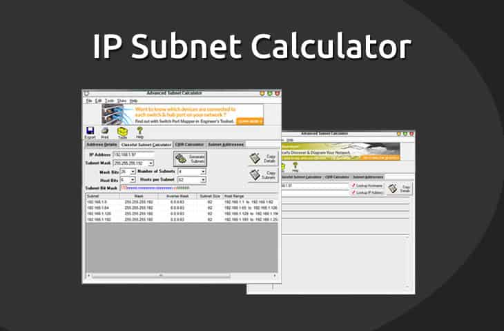 Ip subnet calculator software download free today!