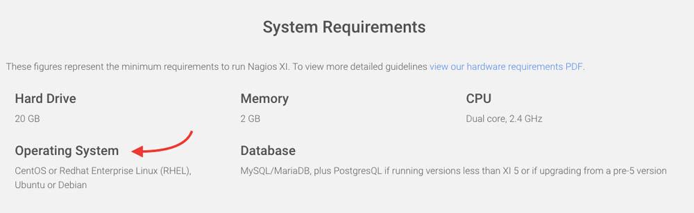 nagios system compatibility