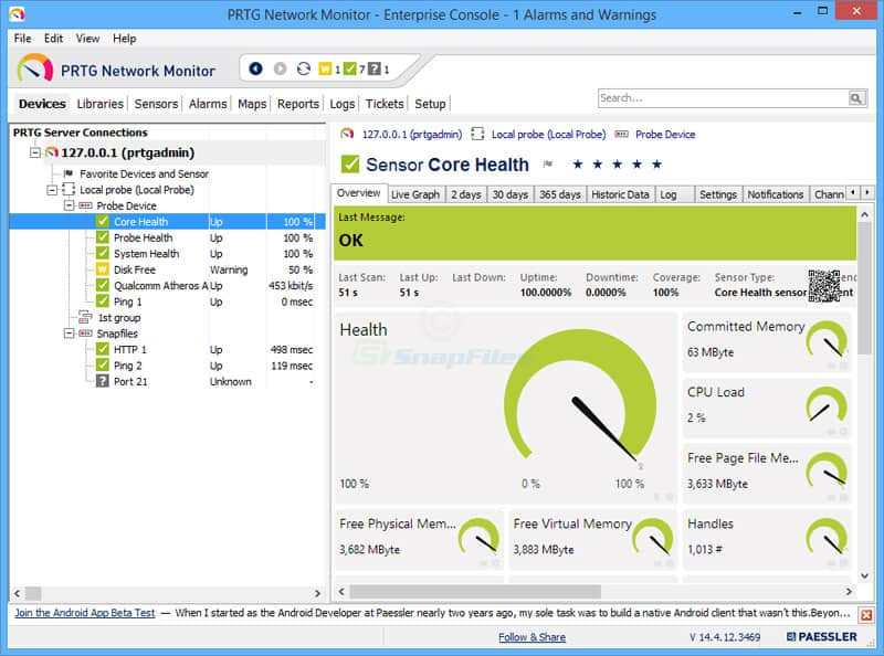 Network Software Screen Shot : Best lan monitor software for your managing network