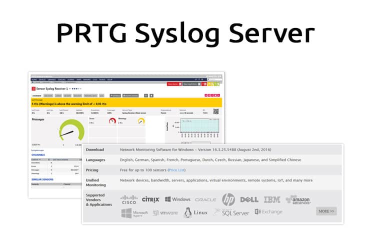 prtg syslog server review