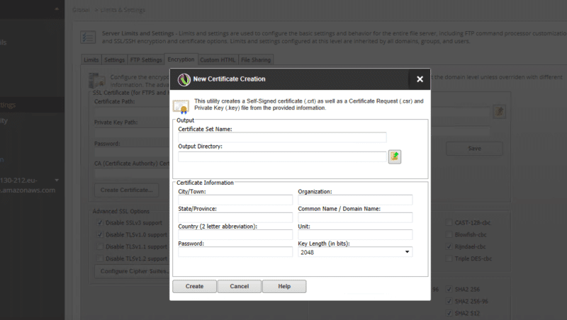 create self-signed certificates with tools