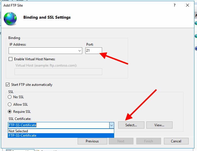 Bind the certificate to SSL