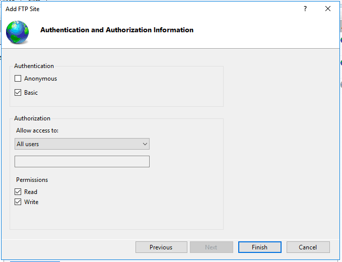 Add Authentication and Authorization information