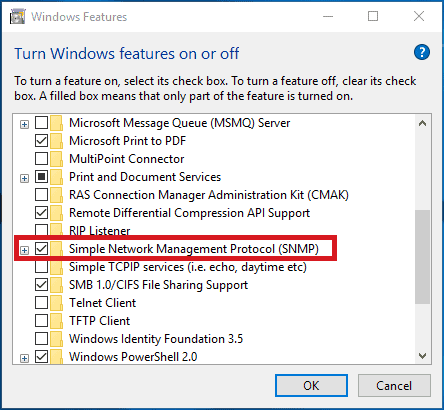 snmp in windows