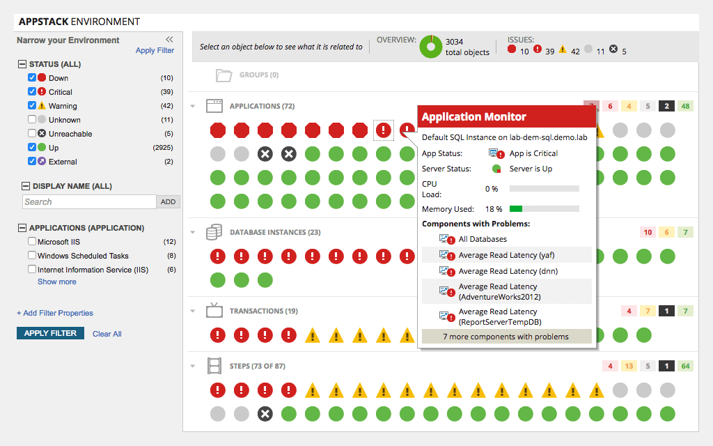 solarwinds software application monitor