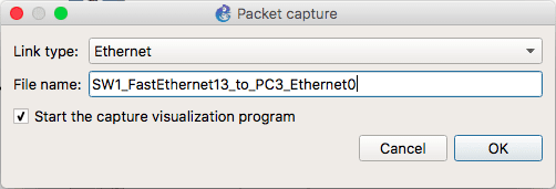 specify ethernet interface