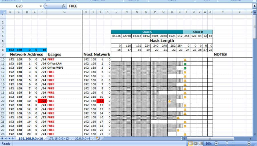 spreadsheet ipam example
