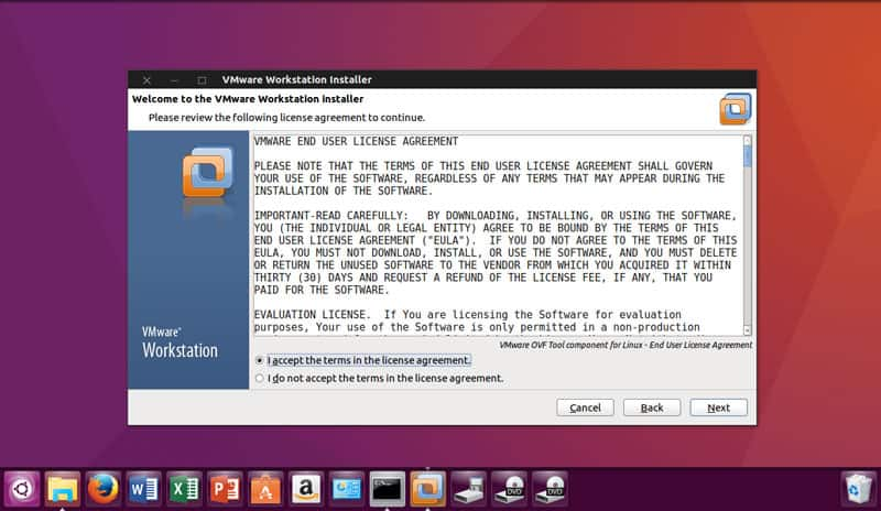 vmware ubuntu step 2